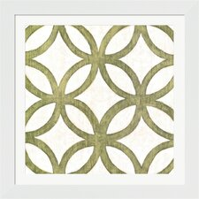 Garden Tile III Chariklia Zarris Framed Graphic Art