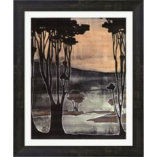 Small Nouveau Trees II by Jennifer Goldberger Framed Painting Print