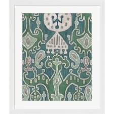 Emerald Ikat I by Chariklia Zarris Framed Painting Print