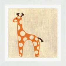 Best Friends Giraffe Framed Art