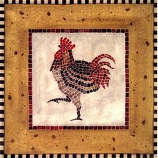 <strong>Evive Designs</strong> Mosaic Rooster No.1 Wall Art (Print Only)