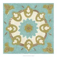 Rustic Tiles III by Chariklia Zarris Painting Print