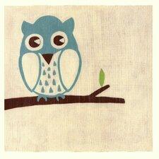 Best Friends Owl by Chariklia Zarris Painting Print