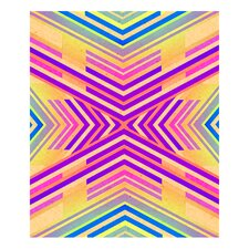 Neon Boho Tribal Geometric by Evie Alessandria Graphic Art