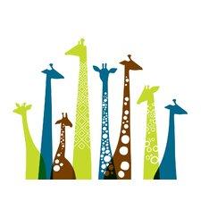 Giraffes Landscape Paper Print