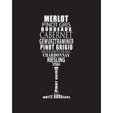 Wine by Susan Newberry Textual Art on Fine Art Paper