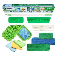 Fibermop 11 Piece Microfiber Mop Cleaning Kit