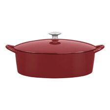 <strong>Mario Batali</strong> 6-Qt. Cast Iron Oval Dutch Oven with Lid