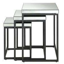 <strong>OSP Designs</strong> Krystal 3-Piece Nesting Table