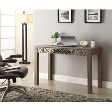 Helena Writing Desk with Mirror Accent Panel