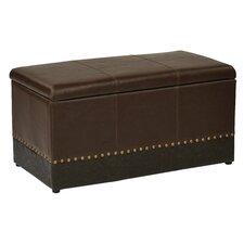 Metro 3 Piece Faux Leather Storage Ottoman