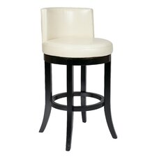 "Metro Bonded Leather 30"" Swivel Bar Stool"
