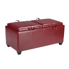 Metro Collection Vinyl Storage Bench with Dual Trays