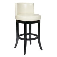 "<strong>OSP Designs</strong> Metro Bonded Leather 30"" Swivel Barstool"