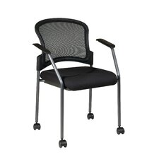 <strong>OSP Designs</strong> Rolling Visitors Chair with Casters