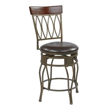 "Cosmo 24"" Swivel Bar Stool with Cushion"