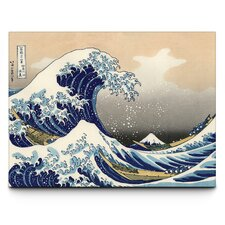 Great Wave by Hokusai Graphic Art on Canvas