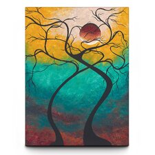 Twisting Love Textured Canvas Art Print