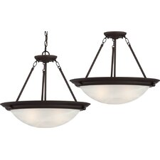 Lunar 3 Light Pendant or Semi Flush Mount