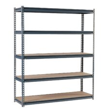 "Heavy Duty Modular 16-Gauge Boltless 72"" H 5 Shelf Shelving Unit"