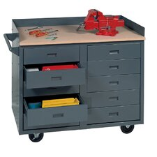 Mobile Service Bench with 10 Drawers