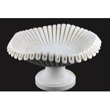 Hand Carved Marble Bowl with Pedestal