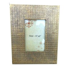 Wooden Brass Cladded Picture Frame