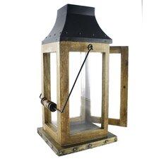 Acacia Wood and Metal Lantern