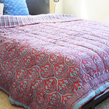 Organic Cotton Block Print Quilt