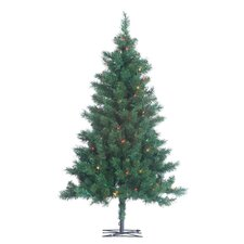 3' Green Colorado Spruce Christmas Tree with 150 Multi Lights with Stand