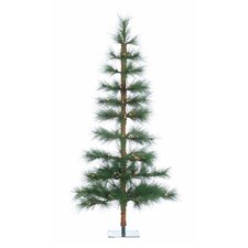 6' Green Hard Needle Washington Pine Christmas Tree with 105 Clear Lights with Stand