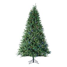 7.5' Natural Cut Arlington Pine Christmas Tree with 660 LED Multi Lights with Stand