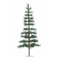 7' Green Hard Needle Washington Pine Christmas Tree with 140 Clear Lights with Stand