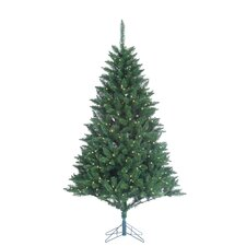 7' Green Fairmont Pine Christmas Tree with 350 LED Warm White Lights with Stand