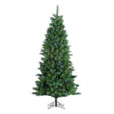 7.5' Huntington Spruce Christmas Tree with 330 LED F5 Multi Lights with Stand