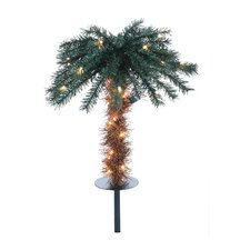 "1' 6"" Green Pathway Tropical Artificial Christmas Tree with 40 Clear Lights (Set of 2)"