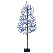 7.5' Blossom Artificial Christmas Tree with 512 Blue LED Lights