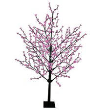 8' Blossom Artificial Christmas Tree with 567 Fuschia LED Lights