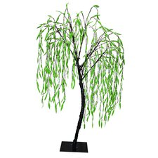 8' Willow Artificial Christmas Tree with 640 Green LED Lights
