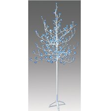 6.5' Blossom Artificial Christmas Tree with 240 Blue LED Lights with a Trunk