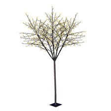 7.5' Twinkle Blossom Artificial Christmas Tree with 600 Warm White LED Lights