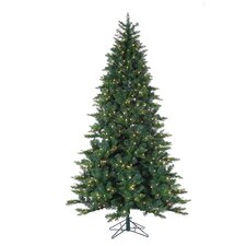 7.5' Green Longwood Pine Christmas Tree with 600 Clear Lights with Stand