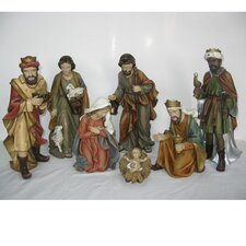 7 Piece Nativity Set with Holy Family
