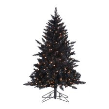 4.5' Purple Ashley Christmas Tree with 250 Purple Lights with Stand