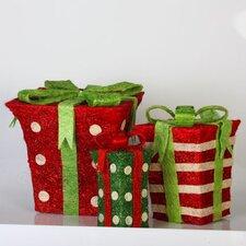 Sisal Gift Box Set Christmas Decoration