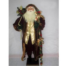 <strong>Sterling Inc.</strong> Standing Santa with Gift Bag / Cane