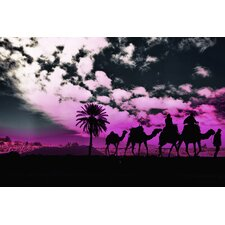 """Moroccan Purple"" Graphic Art on Canvas"