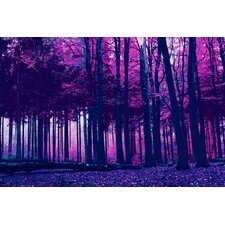 """Incandescent Forest"" Graphic Art on Canvas"