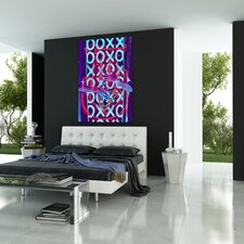 """XOXO"" Graphic Art on Canvas"