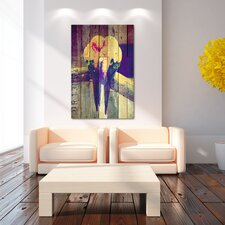 """Lovebirds Pastel"" Graphic Art on Canvas"